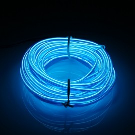5M EL Led Flexible Strip Light Xmas Decor DC 12V - Blue