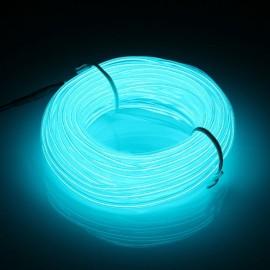 5M DC 12V Neon Glow Flexible Soft Tube Wire LED Strip Light - Light Blue