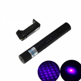 Ultrafire 4mW 405nm Laser Pointer Star Purple Light - Black
