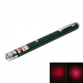 1mW 650nm Red Beam Light Starry Rechargeable Laser Pointer Pen with 4pcs Laser Heads Green
