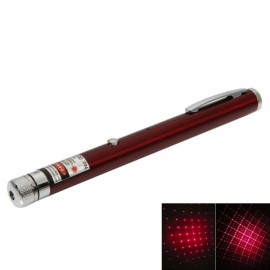 1mW 650nm Red Beam Light Starry Rechargeable Laser Pointer Pen with 4pcs Laser Heads Red
