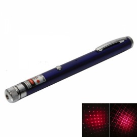1mW 650nm Red Beam Light Starry Rechargeable Laser Pointer Pen with 4pcs Laser Heads Blue