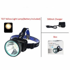 ShineFire TD7 10W 2 Modes LED Headlight Rechargeable Long Shots Yellow Light