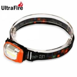 UltraFire COB 3 Modes IP44 Waterproof LED Headlight Orange