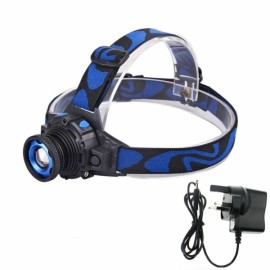 Q5 LED Waterproof Headlight Built-in Lithium Battery w/ Charger - UK