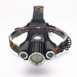 3 LED T6 Super Bright Adjustable Headlight for Outdoor AC 100-240V