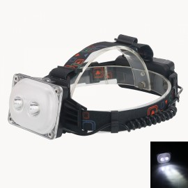 2 LED T6 2000LM 3 Mode USB Rechargeable Hunting Fishing Outdoor Headlamp