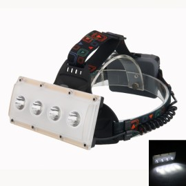 4 LED T6 2000LM 3 Mode USB Rechargeable Hunting Fishing Outdoor Headlamp Black & Golden