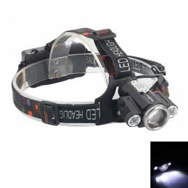 TEEKLAND Outdoor Sports 3 LED 1500LM 5 Modes Adjustable Zoom Headlamp 2*18650 Black & Multicolor