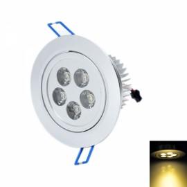 THD-G526 5W 2500K 480LM Warm White 5-LED Ceiling Light Lamp Silver (85~265V)