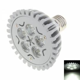 WDD302 E27 5W 450lm 5-LED 6000-6500K White Light LED Light Bulb Silver & White (85-240V)