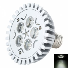 HDX-DB-004 E27 5W 430lm 6500K White Light LED Light Bulb Silver & Gray (220V)