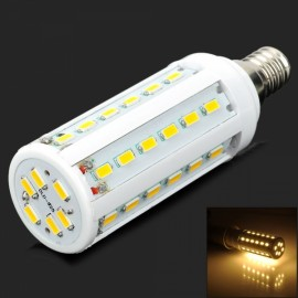 E14 8W 900lm 3500K Warm White 42 SMD5630 LED Light Bulb White & Silver (AC 150-265V)