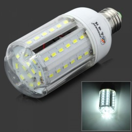 E27 15W 750LM 6000K 60 SMD 5630 LED White Corn Lamp White & Silver (AC220-240V)