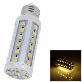 E27 7W 800lm 4000K Warm White 42-SMD5050 LED Corn Light Bulb White & Silver (AC 85-265V))