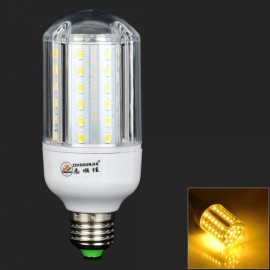 E27 15W 900LM 3000K 60-SMD 5630 LED Warm White Corn Lamp White & Silver (AC 220-240V)