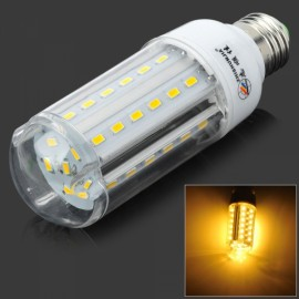 E27 12W 720lm 3000K 42-SMD 5630 LED Warm White Corn Lamp White & Silver (AC 220-240V)