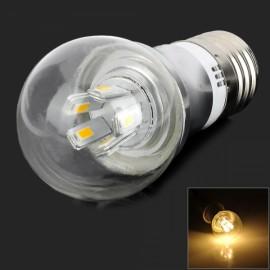 E27 5W 450lm 3000K 10-SMD 5730 LED Warm White Light Bulb Transparent (AC 85-265V)