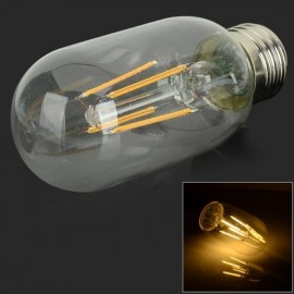 E27 4W 4 LED Filament Bulb 380LM 3000K Warm White Light AC 85-265V