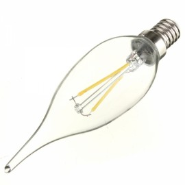 E14 2W 160LM 6500K White Light LED Filament Candle Bulb (AC220V)