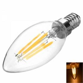 E14 4W 400LM 3200K 4-COB LED Filament Bulb Warm White Light AC220V