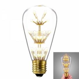 E27 3W 2200K Warm White Light Vintage Edison Design Festival Decoration LED Light Bulb Transparent