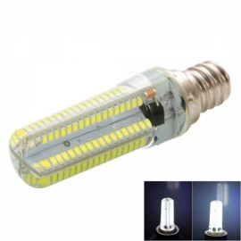 E12 7W 152-LED Corn Bulb Lamp 3014SMD White Light LED Silicone