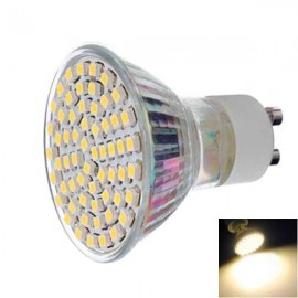 GU10 4.5W 60-LED 3528SMD 450lm 3000K Warm White Light LED Light (AC 220-240V)