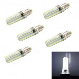5pcs E14 7W 152-SMD 3014 840LM 6000K Dimmable White Light LED Corn Bulbs