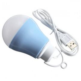 LED USB Bulb 5V DC 5W 6500K Low Voltage Reading Light White Light Light Blue