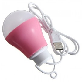 LED USB Bulb 5V DC 5W 6500K Low Voltage Reading Light White Light Pink