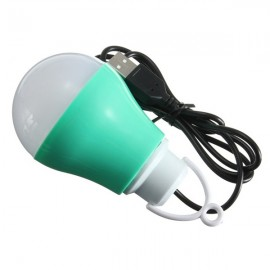 LED USB Bulb 5V DC 5W 6500K Low Voltage Reading Light White Light Dark Green
