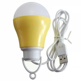 LED USB Bulb 5V DC 5W 6500K Low Voltage Reading Light White Light Lemon Yellow