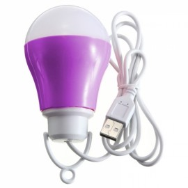 LED USB Bulb 5V DC 5W 6500K Low Voltage Reading Light White Light Dark Purple