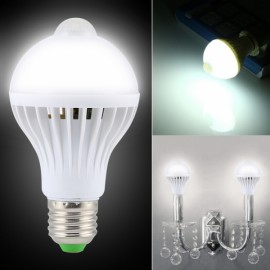 E27 7W 650LM 6000K White Human Body and Infrared Sensor Lights LED Bulb (AC 85-265V)