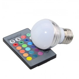 E27 3W RGB Dimmable LED 16 Colors Magic Light Bulb Remote Control