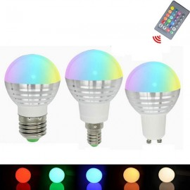 GU10 3W RGB Dimmable LED 16 Colors Magic Light Bulb Remote Control