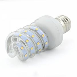 E27 3W SMD 2835 Spiral Shape LED Corn Light Bulb - Warm White