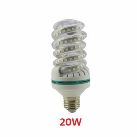 E27 20W SMD 2835 Spiral Shape LED Corn Light Bulb - Cold White