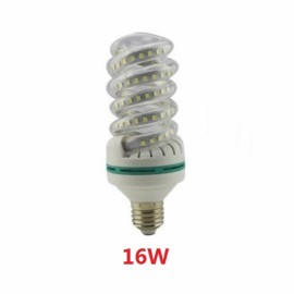 E27 16W SMD 2835 Spiral Shape LED Corn Light Bulb - Warm White