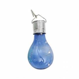 Solar Power 5 LED Ball Light Camping Garden Lamp Warm White Blue