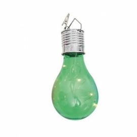 Solar Power 5 LED Ball Light Camping Garden Lamp Warm White Green