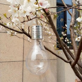Solar Power 5LED Ball Light Camping Garden Lamp Warm White Transparent
