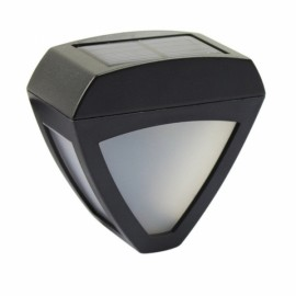 Triangle 2 LED Solar Outdoor Waterproof Garden Wall Light Cool White