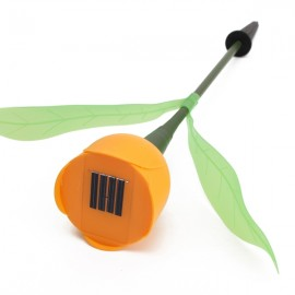 Solar Power Outdoor Yard Garden Lawn LED Light Tulip Flower Lamp Orange