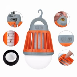 3-in-1 Outdoor Lantern & Mosquito Bug Killer & Power Bank for Camping Garden Orange