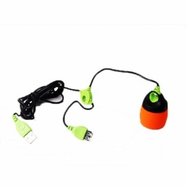 Portable Chainable USB LED Camping Lantern Tent Light Orange