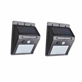 2pcs 25 LED Solar Power PIR Motion Sensor Wall Light Outdoor Waterproof Garden Lamp