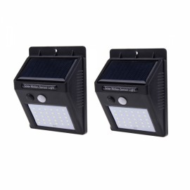 2PCS 30 LED Solar Power Panel Motion Sensor Garden Outdoor Wall Light