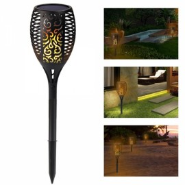 96 LED Solar Torch Light Flickering Lighting Dancing Flame Garden Lamp